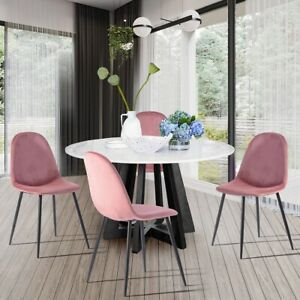 Upholstered Kitchen Dining Chair Dinette Side Chair Grey Fabric Modern Furniture