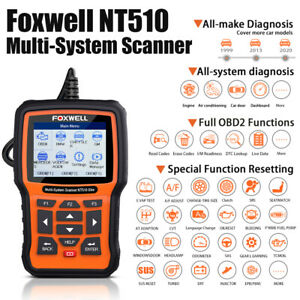 Foxwell Nt510 Obd Scanner Tool Full System Engine Abs Srs Sas Dpf Tpms Epb Reset
