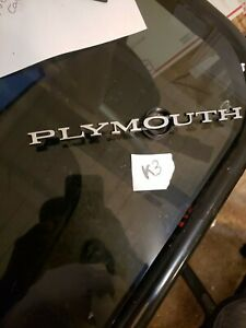 1968 69 70 71 72 Plymouth Roadrunner Fury Dodge Duster Hood Trunk Script Emblem