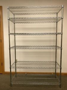 Organizing Wire Metal Storage Shelving Unit For Business Or Home