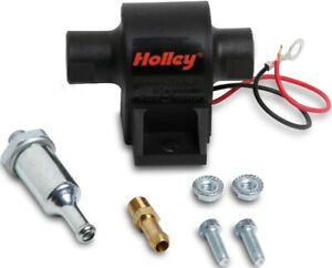 Holley 32 Gph Mighty Mite Electric Fuel Pump Black 4 7 Psi Street 3125 Hose