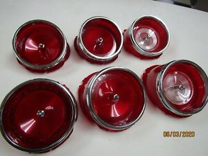 Chevy Impala Tail Light Back Up Lenses Lens Set Of 6 Made In The Usa 1965 65