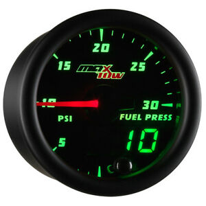 52mm Maxtow 30psi Diesel Fuel Pressure Gauge For Cummins Green Digital Analog