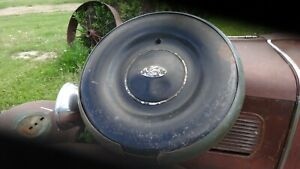 Vintage 1936 Ford Spare Tire Cover Vintage 1930s Ford Spare Tire Cover Accessory