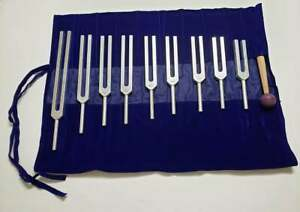 Solfeggio Healing Unweighted Tuning Fork Set Of 9 Ships From Usa