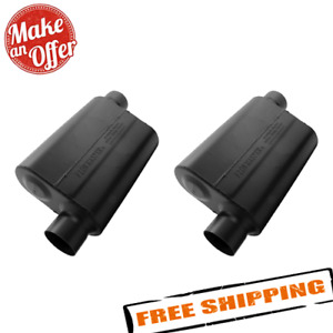 Flowmaster 943048 Set Of 2 Universal Super 44 Series Mufflers 3 Offset In Out