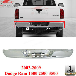 Rear Step Bumper Chrome For 2002 2009 Dodge Ram 1500 2500 3500 Ch1102371