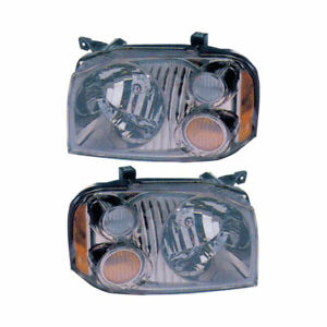 For Nissan Frontier 2001 2002 2003 2004 Pair Left Right Headlight Assembly