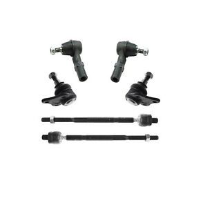 New 4 Tie Rod Ends Both 2 Lower Ball Joints For Volkswagen Golf Beetle Jetta