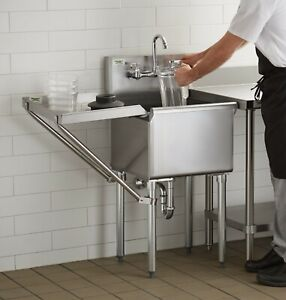 18 X 18 W Faucet Drainboard Stainless Steel Commercial Utility Sink