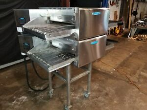 2017 Turbochef Hhc2020 Double Stack Electric Conveyor Pizza Ovens video Demo