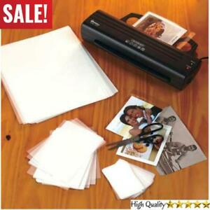 Set Of 100 Thermal Laminating Pouches Sheets For Name Card Photo Letter Sheet