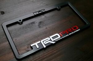 Trd Pro License Plate Frame Toyota Racing Developmet Tacoma Tundra 4runner 4x4