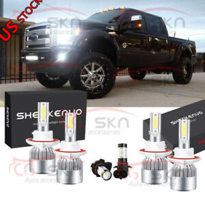 For Ford F250 F350 F450 2005 2019 Led Headlight Hi lo Fog Light Bulbs Combo Kit