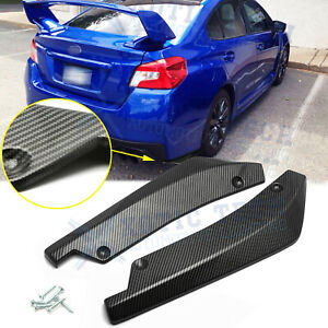 For Subaru Wrx Sti Rear Bumper Splitter Diffuser Canards Carbon Fiber Texture