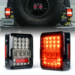 Xprite Led Tail Lights Brake Lamp Reverse Turn Signal For 07 18 Jeep Wrangle Jk