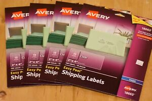 Avery Easy Peel Permanent Laser Address Labels 2x4 Lot Of 4