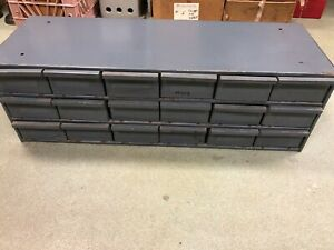 Durham Heavy Duty Parts Cabinet 18 Cabinets 34 X 12 X 11