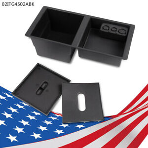 Fit For 14 17 Gm Center Console Organizer Front Floor Insert Tray Black