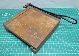 Vintage Ingento No 2 Wooden Paper Cutter Photo Trimmer 9 Inches Works Great