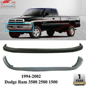 Front Bumper Cover Valance Combo Kit For 1994 2002 Dodge Ram 3500 2500 1500