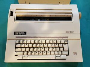 Smith Corona Electric Typewriter 240 Dle With Cover Works Needs Ribbon