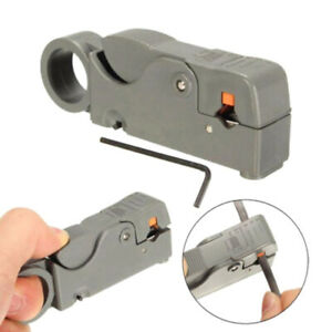 Rotary Coaxial Coax Cable Cutter Stripper Sky Tv Network Wire Rg6 Rg58 Rg59 Ya9z
