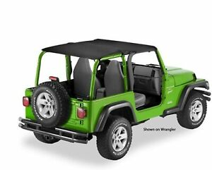 Bestop 52544 35 Safari Extended Bikini Top 2004 2006 Jeep Wrangler Unlimited Lj