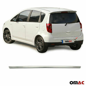 Chrome Tailgate Trunk Moulding Trim S Steel For Mitsubishi Colt 2008 2013