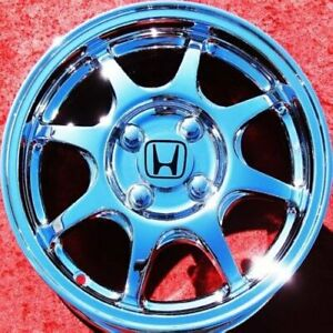 Set Of 4 New 14 Honda Civic Chrome Oem Wheels For Accord Prelude Del Sol 63756
