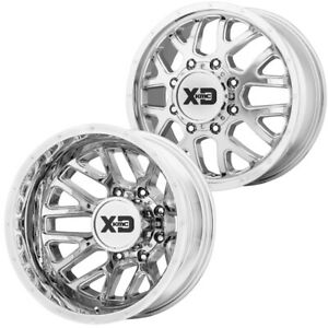 Set Of 4 17 Xd Series Xd843 Grenade Dually 8x210 Chrome Wheels Rims