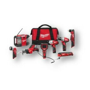 Milwaukee 2495 28 M12 8 Tool Combo Kit
