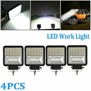 4x 48w Square Pods Led Work Light Spot Lights For Truck Off Road Tractor 12v 24v