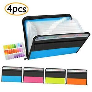Tranbo 13 Pockets Expanding File Folder oxford Fabric poly Accordion Document Or
