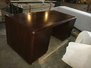 Three Office Desks And One Credenza