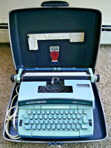 Vintage 1970s Smith Corona Coronet Super 12 Typewriter W Case Works Great