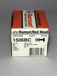 New Ramset Pins 1506bc 1513 1506 Track To Concrete 50 Boxes 5000 Pieces