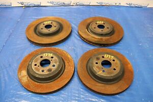2015 Lexus Rc F Coupe F Sport Rwd 5 0l Oem Fr Rr Slotted Brake Rotors 1235