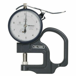 Mitutoyo 7326s Dial Thickness Gage 0 0 05 Flat Ceramic Anvil