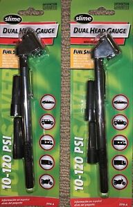 Free Shipping Oem Two 2 New Slime Dual Head Tire Pressure Gauge 10 120 Psi