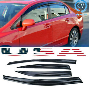 Set Window Rain Guard Visor For Honda Civic 2006 2007 2008 2009 2010 2011 Us