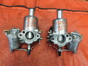 Mg Midget Sprite Mini Cooper Su Hs2 Rebuilt Carburetors Aud 549 Original