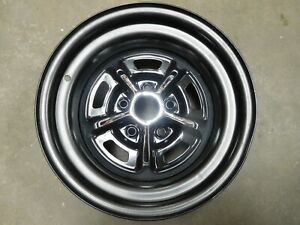 New Blem Single 15 X 8 Mopar Rally Wheel 5 On 4 1 2 Charger Cuda Challenger R t