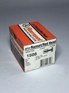 New Ramset Pins 1508 Track To Concrete 19 Boxes Of 100 Pieces Red Head Nails