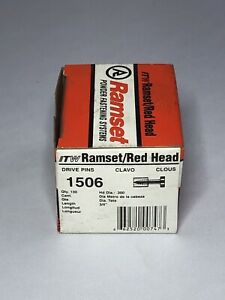 New Ramset Pins 1506 Track To Concrete 20 Boxes Of 100 Pieces Red Head Nails