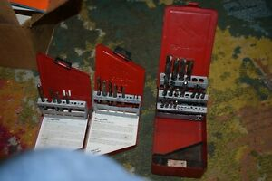 3 Snap On Drill Extractor Set And Bit Sets All Partial Exdl10 2 Sets And Larg