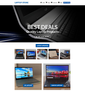 Profitable Laptop Store Turnkey Dropship Website Business For Sale