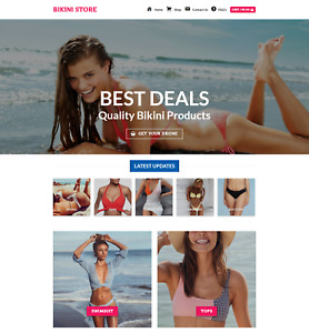 Profitable Bikini Store Turnkey Dropship Website Business For Sale