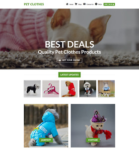 Profitable Pet Clothes Store Turnkey Dropship Website Business For Sale