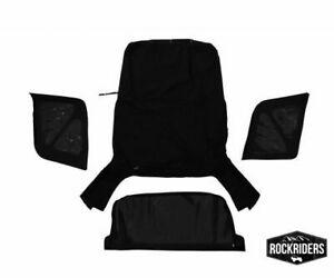 98835 Rampage 1995 1998 Geo Tracker Soft Top And Zip Out Tinted Windows Black